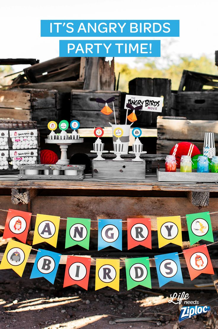 Amazing ideas for throwing an Angry Birds premiere party! Celebrate the new movie with a custom photobooth, colorful drinks, and DIY goodie bags. Just download the free printables to save some time and money on decorations. Kids will love the Angry Birds themed games and cupcake toppers. Great tips if you're putting together a last minute party or trying to entertain the family on a rainy day. See The Angry Birds movie only in theaters.