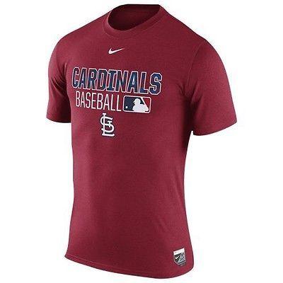 St. Louis Cardinals Nike MLB Red Blue White Men's T-shirt Sz Large Dri-fit Tee