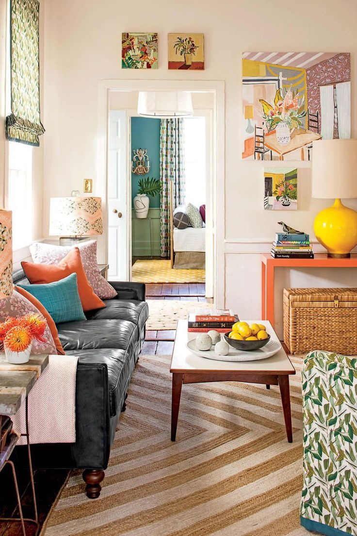 Open Concept Living | Donu0027t Shy Away From Colors And Prints In A Smaller  Home. Make The Most Of Your Space With These Bright Ideas For Small House  Design.