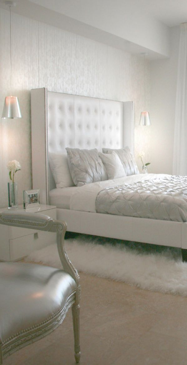 DKOR Interiors. Love the silver! Gives the room a gorgeous glow! j...