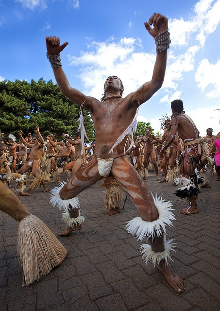 Tribal Dances During Carnival, Tapati Festival, Easter Island, Chile by Eric Lafforgue, via Flickr