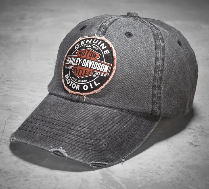 Trade-in your old cap for this vintage inspired one. | Harley-Davidson Men's Genuine Oil Patch Cap