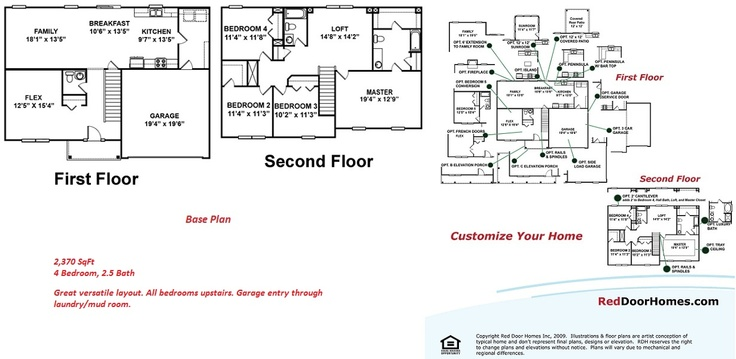 8 Best Floor Plans - Two Story Images On Pinterest
