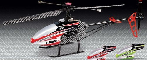 MJX F645 F45 4ch LCD 2.4GHZ Large Single Blade Rc Helicopter (Colors may vary) Colors may vary It comes in green and red 70cm, 4ch 2.4GHZ LCD