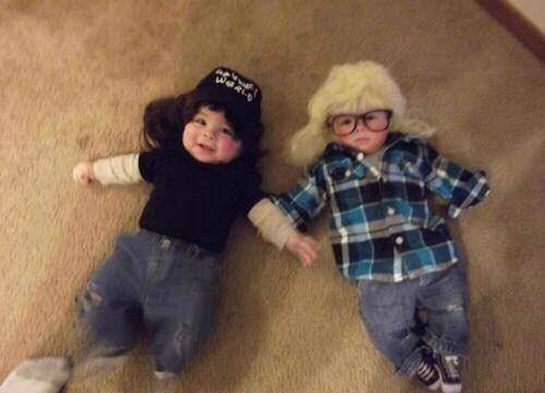 Party on.: Halloween Costumes Ideas, Baby Costumes, Funny, Baby Halloween Costumes, Wayne World, Kids, Twin Boys, Parties Time, Halloweencostum