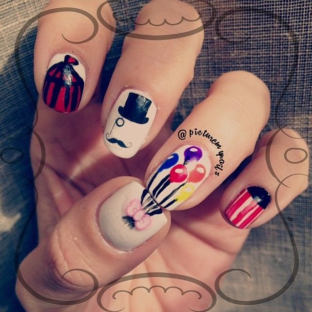 Circus nails @picturemynails