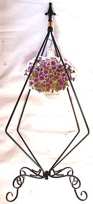 HANGING BASKET PLANT STAND - I have a similar one!