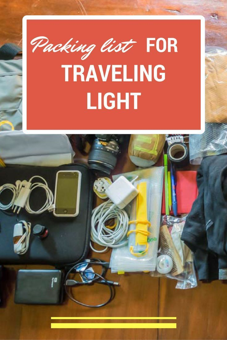 RTW Packing List: What to pack into carry-on luggage for long-term travel.  Travel with light luggage and light mind :)