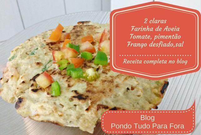Panqueca salgada - Segunda receita fit ensinei no blog : http://pondotudoparafora.blogspot.com.br/2016/10/receitas-fit-ideia-lanches-facil.html