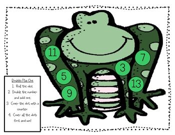 Free! Froggy Roll & Cover! Fun reinforcer/math related.