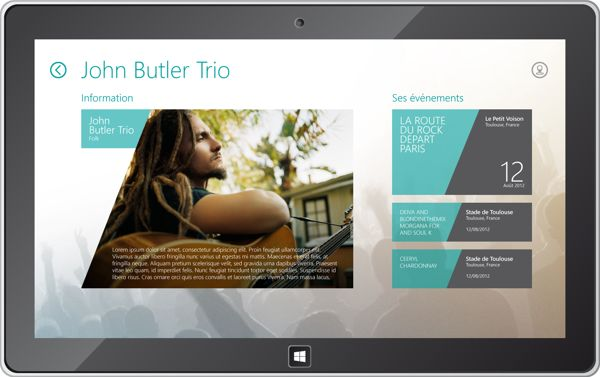 Live Application Windows 8 by Axel NEMETH, via Behance