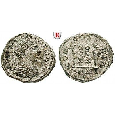 Römische Kaiserzeit, Elagabal, Denar, vz-st: Elagabal 218-222. Denar 18 mm Rom. Zeitgenössische barbarische Imitation: Drapierte und… #coins