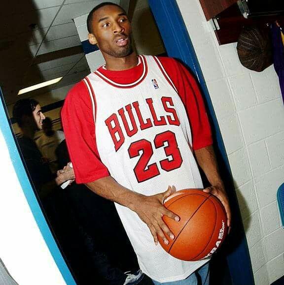 Kobe Bryant in a Chicago Bulls Jersey. | Kobe bryant michael ...
