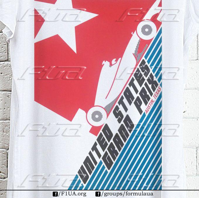 """""""США"""". Доступны все размеры футболок. Есть мужские, женские, детские модели. Заказы принимаем на страницах F1UA, Highway и в группе formulaua."""