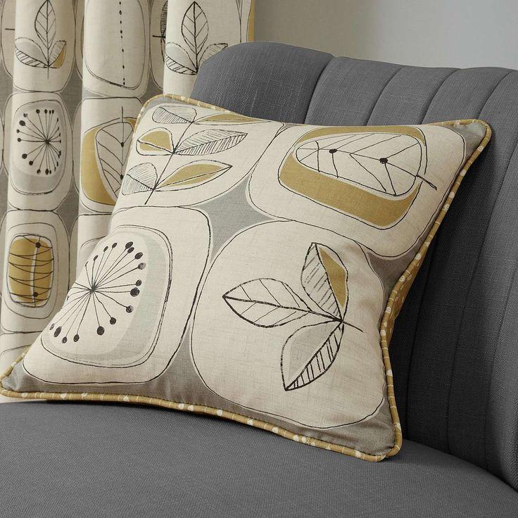 Modern Nature Ochre Cushion | Dunelm