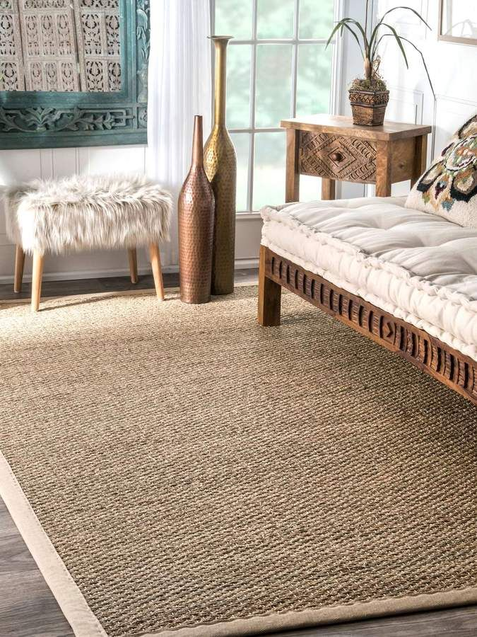 Nuloom Langston Seagrass Rug Floor Carpet Home Decor Gifts