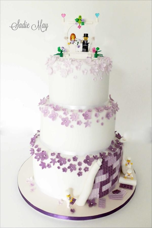 Fun lego wedding cake  - Cake by Sharon, Sadie May Cakes