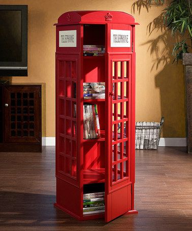 Look what I found on #zulily! Phone Booth Cabinet by Southern Enterprises #zulilyfinds {{ i would put this in my house }}