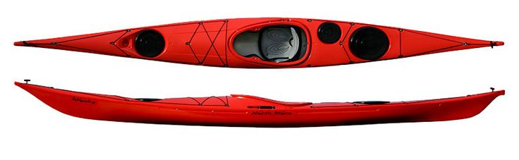 North Shore Atlantic RM (Rotomoulded) Sea Kayaks from Kayaks and Paddles Canoe Shop -ideally this sea kayak, much more able than the other ones I have been pinning while still being a plastic boat. - bought a composite Atlantic instead as the RM very heavy.