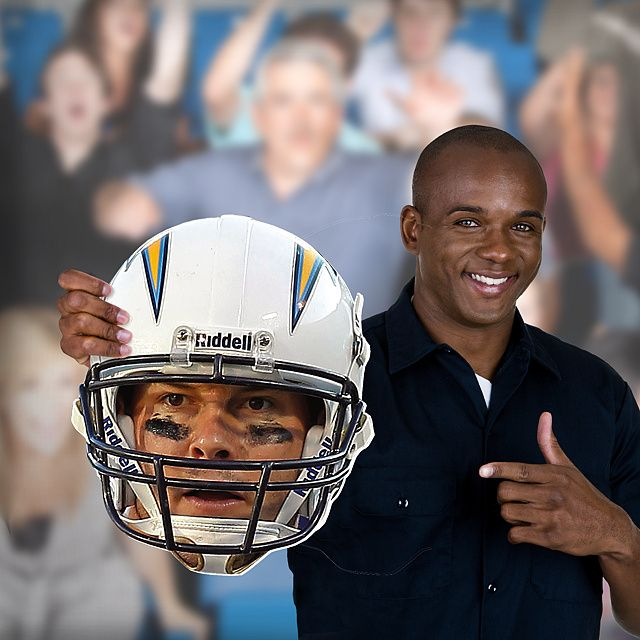 Philip Rivers Game Day Big Head Fathead Big Head – Non-adhesive | San Diego Chargers Game Day