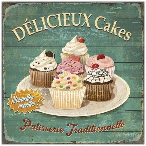 Délicieux cakes Poster par Bruno Pozzo sur AllPosters.fr