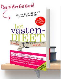 Mosley en Spencer introduceren een nieuwe, revolutionaire manier van diëten, waar iedereen over de hele wereld het over heeft. Het is echt zo simpel als het klinkt: vijf dagen in de week mag je eten volgens je normale eetpatroon en twee dagen moet je 'vasten': 500 calorieën per dag voor vrouwen, 600 voor mannen. http://hetvastendieet.nl/het-vastendieet-boek