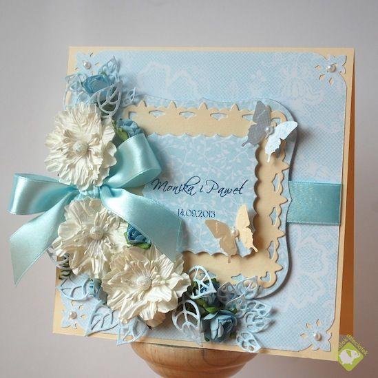 wedding card in light blue - Scrapbook.com
