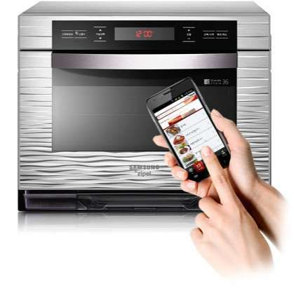 App-Controlled Appliances . The Samsung Android Oven Connects to Your Smartphone for Easy Cooking