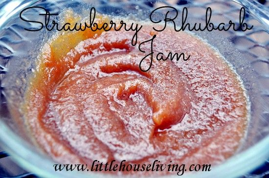 Canning Strawberry Rhubarb Jam (Butter). Yumm....so good!