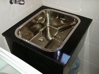tanque inox granito | Se preferir, use a cuba-tanque em granito (sobrepor ou embutir)