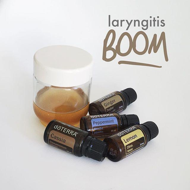 Essential oils laryngitis