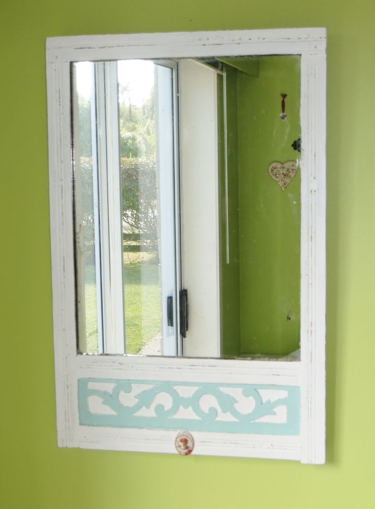 Recycled mirror - wooden - at www.roseandsunday.co.nz