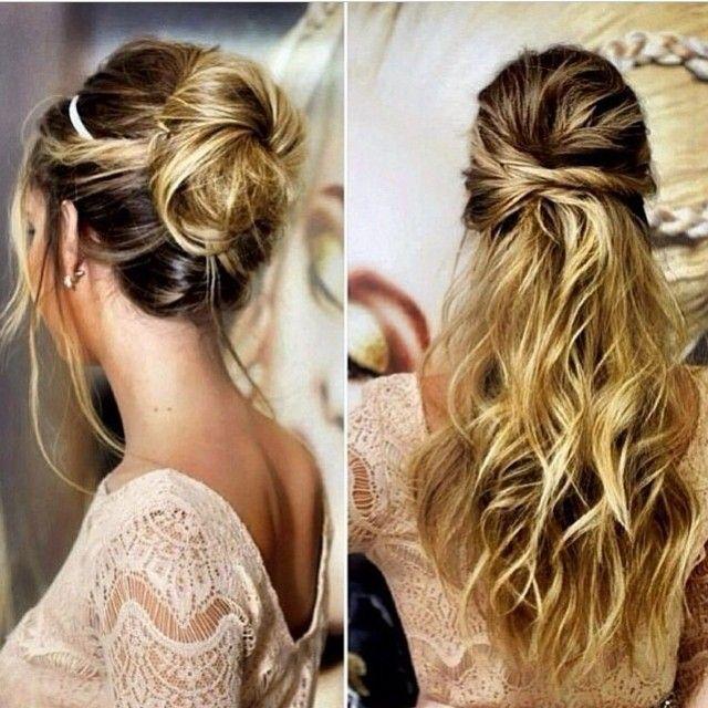 Duas dicas de penteados perfeitos para madrinhas e convidadas  Qual o preferido de vocês? www.dressandgo.com.br #penteados #hairstyle #coque #meiopreso #dicasdadress