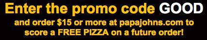 Papa John's: FREE 3-Topping Pizza with $15 Purchase – Hip2Save
