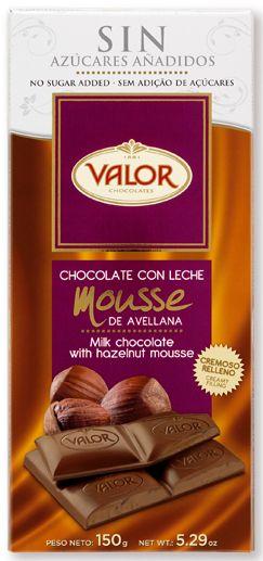 Chocolate con Leche y Mousse de Avellana Sin Azúcares Añadidos