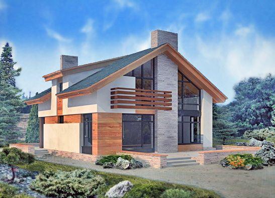 Проект дома 51-67 из пенобетона – цены строительства в Москве | Технологии Домостроения