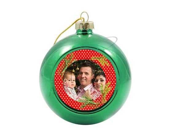 Palla di Natale in vetro colorato Bacche natalizie