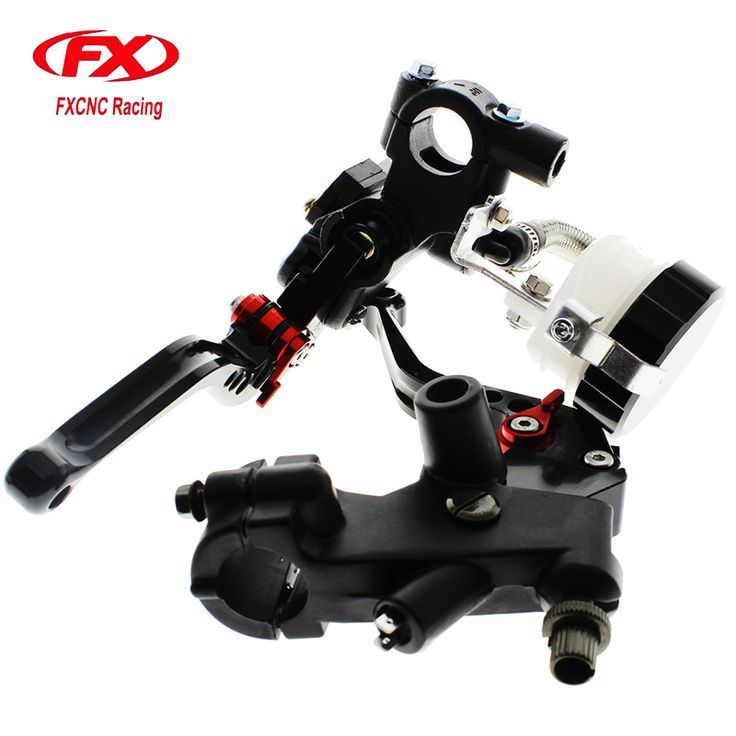 FX CNC 22mm Universal Adjustable Hydraulic Brake Cable Clutch Levers Master Cylinder Reservoir Set For KAWASAKI NINJA 300R  #Affiliate