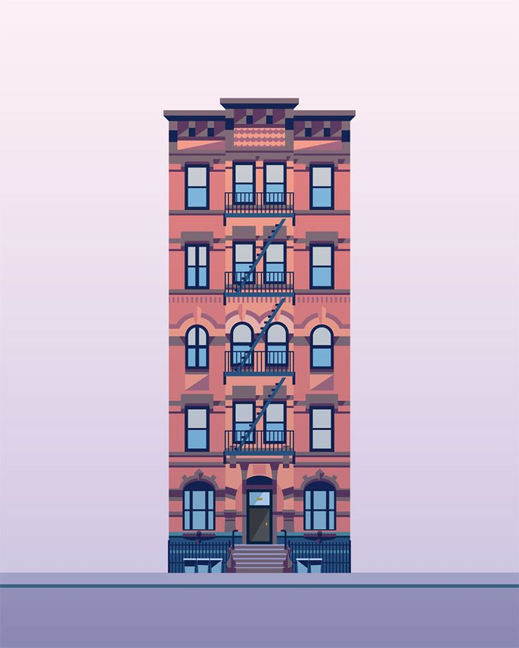 Illustration Prints East Village Buildings - Nathan Manire