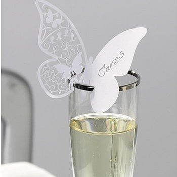 Name card idea, minus the butterfly shape