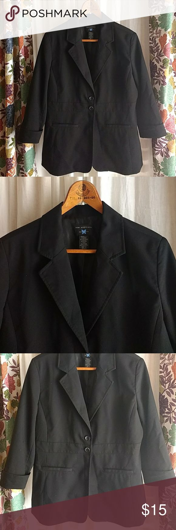 New additions maternity blazer jacket coat black New additions maternity blazer jacket coat black   Thanks for looking!! Item is sold as-is, no refunds. Please review photos carefully. Please feel free to ask questions! new additions Jackets & Coats Blazers