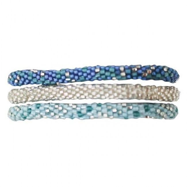 Lily and Laura® Bracelets- Light Blue, Silver, Blue