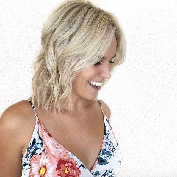 Slightly layered haircut by Marissa Larson
