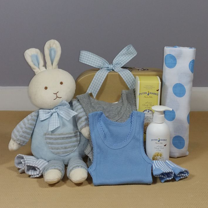 36 best corporate baby gift hampers images on pinterest baby baby boy bunny hugs hamper this gorgeous bunny hamper will make the perfect corporate baby negle Images