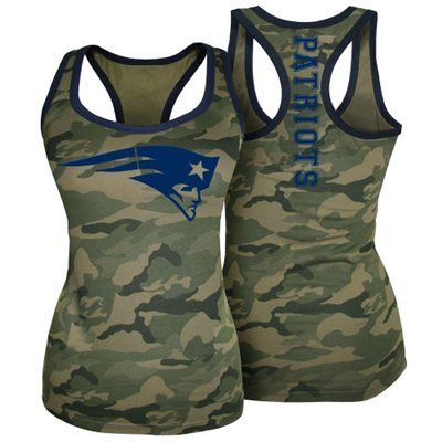 New England Patriots 5th & Ocean by New Era Women's Racerback Tank Top - Camo