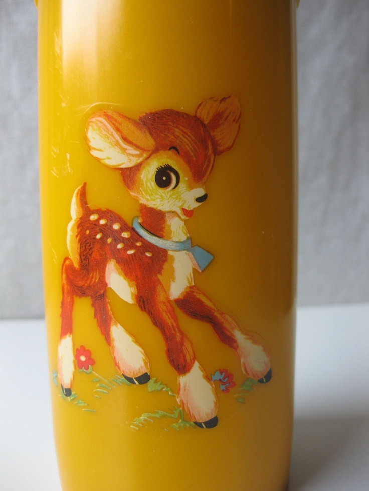 Adorable vintage  thermos with a little deer on it: