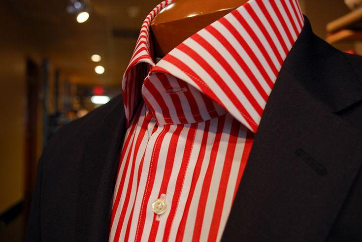 Candy Cane, spread collar shirt