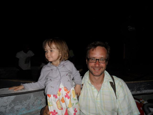 #Happiness is a #Daddy & #daughter on a #lifeboat during a #night #disembarkation from the #Ilala at #Likoma #Island ... #blog