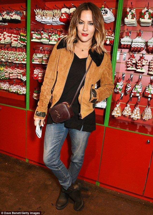 Stepping out: She¿s enjoying the first flourishes of a brand new romance, but Caroline Flack was without her current boyfriend as she made an appearance at the annual Winter Wonderland launch in London's Hyde Park on Thursday evening