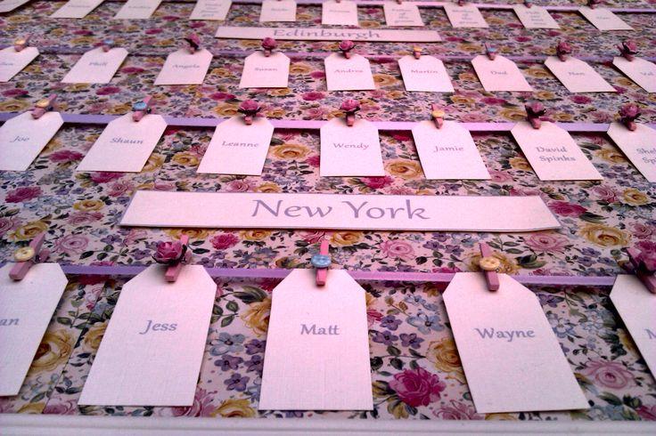 Floral seating plan
